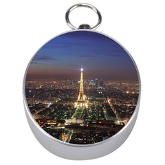 Paris At Night Silver Compasses