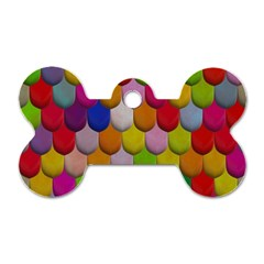 Colorful Tiles Pattern                           Dog Tag Bone (one Side)