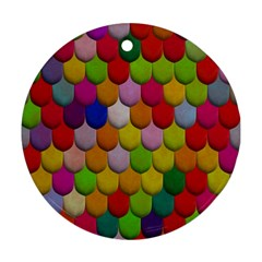 Colorful Tiles Pattern                           Ornament (round)
