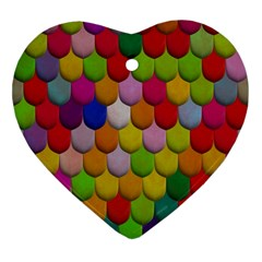 Colorful Tiles Pattern                           Ornament (heart)