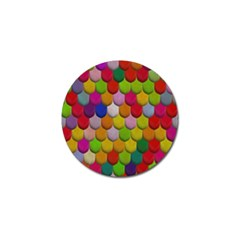 Colorful Tiles Pattern                           Golf Ball Marker