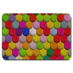 Colorful Tiles Pattern                           Large Doormat