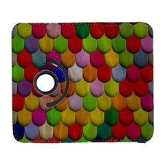 Colorful Tiles Pattern                     Samsung Galaxy Note Ii Flip 360 Case