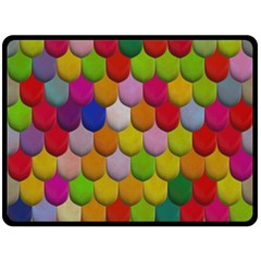 Colorful Tiles Pattern                          Fleece Blanket