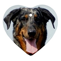 Harlequin Beauceron Heart Ornament (two Sides)