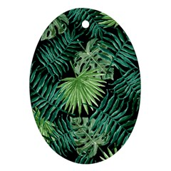 Tropical Pattern Ornament (oval)