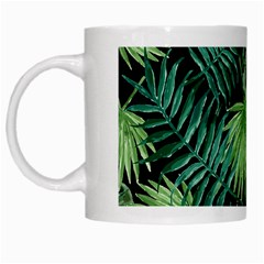 Tropical Pattern White Mugs