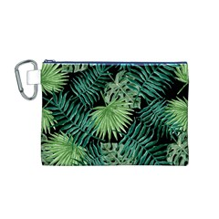 Tropical Pattern Canvas Cosmetic Bag (m)