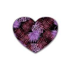 Tropical Pattern Rubber Coaster (heart)