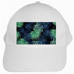 Tropical Pattern White Cap