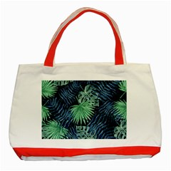 Tropical Pattern Classic Tote Bag (red)