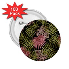 Tropical Pattern 2 25  Buttons (100 Pack)