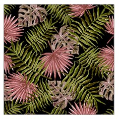 Tropical Pattern Large Satin Scarf (square)