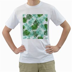 Tropical Pattern Men s T Shirt (white) (two Sided)