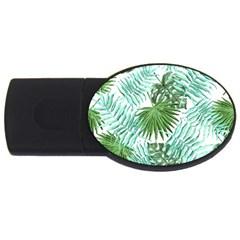 Tropical Pattern Usb Flash Drive Oval (2 Gb)