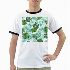 Tropical Pattern Ringer T Shirts