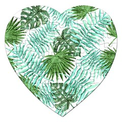 Tropical Pattern Jigsaw Puzzle (heart)