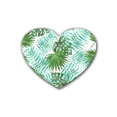 Tropical Pattern Heart Coaster (4 Pack)