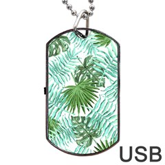 Tropical Pattern Dog Tag Usb Flash (two Sides)