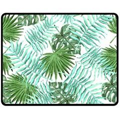 Tropical Pattern Double Sided Fleece Blanket (medium)