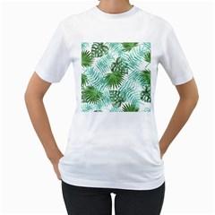 Tropical Pattern Women s T Shirt (white)