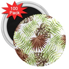 Tropical Pattern 3  Magnets (100 Pack)