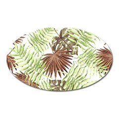 Tropical Pattern Oval Magnet