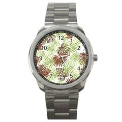 Tropical Pattern Sport Metal Watch