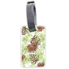 Tropical Pattern Luggage Tags (one Side)