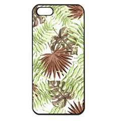 Tropical Pattern Apple Iphone 5 Seamless Case (black)