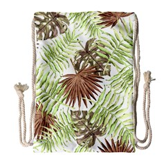 Tropical Pattern Drawstring Bag (large)