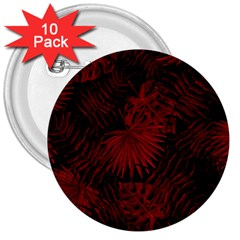 Tropical Pattern 3  Buttons (10 Pack)