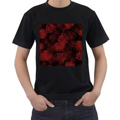 Tropical Pattern Men s T Shirt (black) (two Sided)