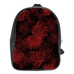 Tropical pattern School Bag (Large) Front