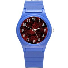 Tropical Pattern Round Plastic Sport Watch (s)