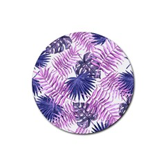 Tropical Pattern Rubber Coaster (round)