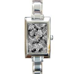 Tropical Pattern Rectangle Italian Charm Watch