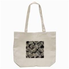 Tropical Pattern Tote Bag (cream)