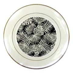 Tropical Pattern Porcelain Plates
