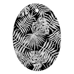 Tropical Pattern Oval Ornament (two Sides)