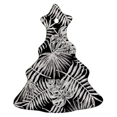Tropical Pattern Christmas Tree Ornament (two Sides)