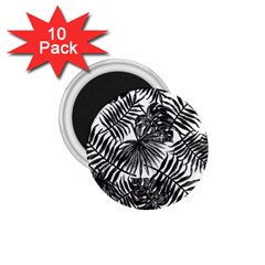 Tropical Pattern 1 75  Magnets (10 Pack)