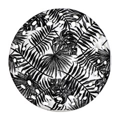 Tropical Pattern Round Filigree Ornament (two Sides)