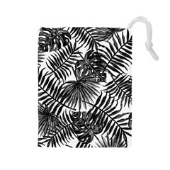 Tropical Pattern Drawstring Pouches (large)