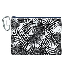 Tropical Pattern Canvas Cosmetic Bag (l)