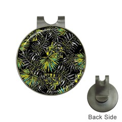 Tropical Pattern Hat Clips With Golf Markers