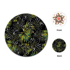 Tropical Pattern Playing Cards (round)