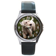 Sealyham Terrier Full Round Metal Watch