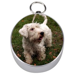 Sealyham Terrier Full Silver Compasses
