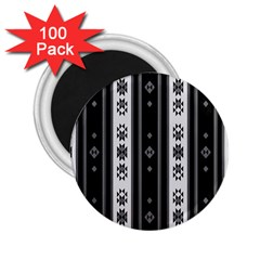 Folklore Pattern 2 25  Magnets (100 Pack)